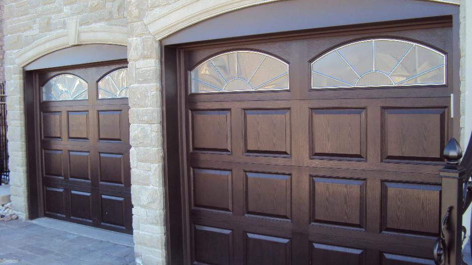 traditional mahogany garage door