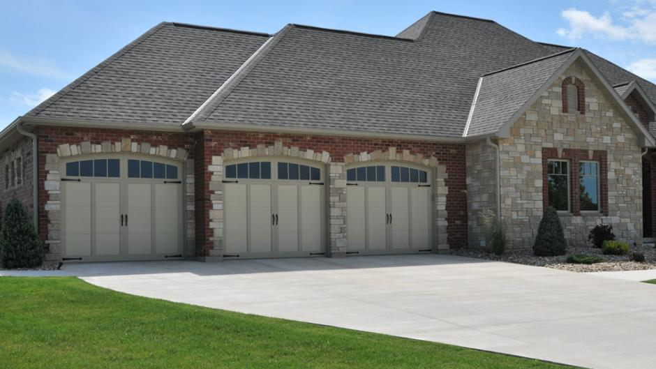 modern carriage house garage door