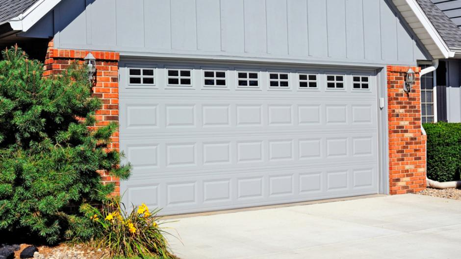 traditional short panel garage door